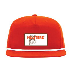 5-Panel Orange Rope Hooters Trucker Thumbnail