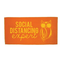 Social Distance Beach Towel Thumbnail